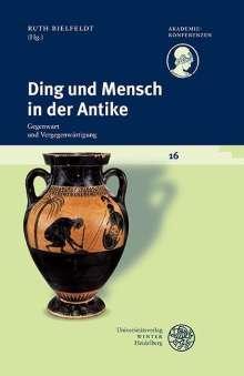 Ding und Mensch in der Antike, Buch