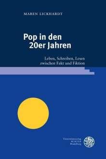 Maren Lickhardt: Pop in den 20er Jahren, Buch