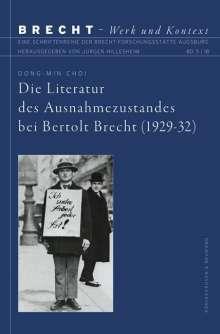 Dong-Min Choi: Die Literatur des Ausnahmezustandes bei Bertolt Brecht (1929-32), Buch