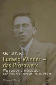 Chantal Puech: Ludwig Winder - das Prosawerk, Buch