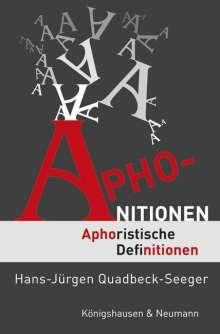 Hans-Jürgen Quadbeck-Seeger: Aphonitionen, Buch