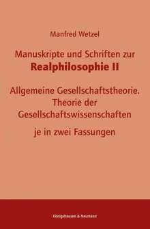 Manfred Wetzel: Manuskripte und Schriften zur Realphilosophie II, Buch