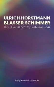 Ulrich Horstmann: Blasser Schimmer, Buch
