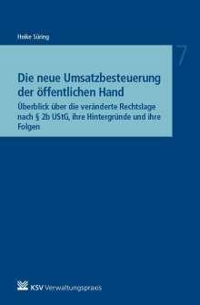 Heike Süring: Die neue Umsatzbesteuerung der öffentlichen Hand, Buch