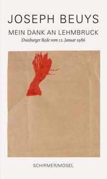 Joseph Beuys: Mein Dank an Lehmbruck, Buch
