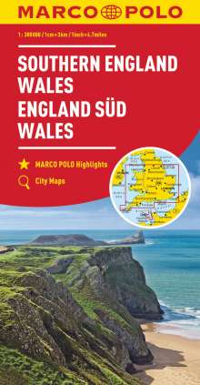 MARCO POLO Karte Großbritannien England Süd, Wales 1:300 000, Diverse