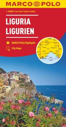 MARCO POLO Karte Italien 05. Ligurien 1:200 000, Diverse