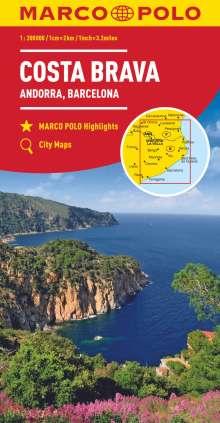 MARCO POLO Karte Costa Brava, Andorra, Perpignan, Barcelona 1:200 000, Diverse