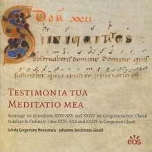 "Gregorianischer Choral  ""Testimonia Tua Meditatio Mea"", CD"