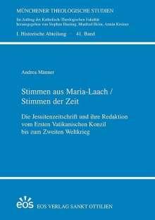 Andrea Männer: Stimmen aus Maria Laach / Stimmen der Zeit, Buch