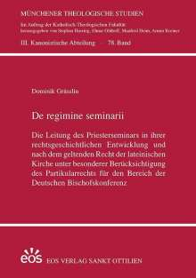 Dominik Grässlin: De regime seminarii, Buch