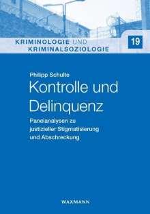 Philipp Schulte: Kontrolle und Delinquenz, Buch