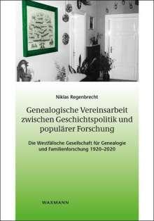 Niklas Regenbrecht: Genealogische Vereinsarbeit zwischen Geschichtspolitik und populärer Forschung, Buch