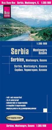 Reise Know-How Landkarte Serbien, Montenegro, Kosovo 1 : 385.000, Diverse