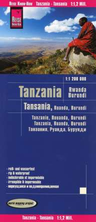 Reise Know-How Landkarte Tansania, Ruanda, Burundi (1:1.200.000), Diverse