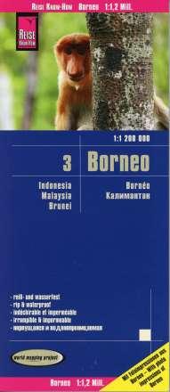 Reise Know-How Verlag Peter Rump: Reise Know-How Landkarte Borneo (1:1.200.000): Kalimantan, Sabah & Sarawak, Brunei, Diverse