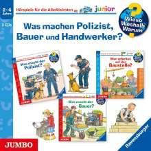 Andrea Erne: Wieso? Weshalb? Warum? junior. Was machen Polizist, Bauer und Handwerker?, 3 CDs