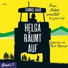 Thomas Raab: Helga räumt auf. Frau Huber ermittelt. Der zweite Fall, 4 CDs