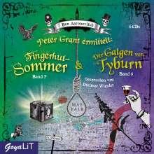 Ben Aaronovitch: Peter Grant ermittelt: Fingerhut-Sommer [5] / Der Galgen von Tyburn [6], 6 CDs