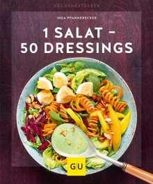 Inga Pfannebecker: 1 Salat - 50 Dressings, Buch