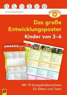 Kornelia Schlaaf-Kirschner: Auf einen Blick: Das große Entwicklungsposter - Kinder von 3-6, Diverse