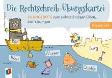 Milena Angioni: Die Rechtschreib-Übungskartei - Klasse 3/4, Buch