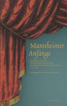 Mannheimer Anfänge, Buch