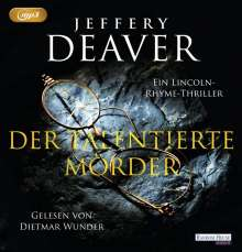 Jeffery Deaver: Der talentierte Mörder, 2 MP3-CDs