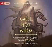 Christopher Paolini: Die Gabel, die Hexe und der Wurm. Geschichten aus Alagaësia. Band 1: Eragon, 4 CDs