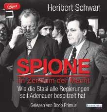 Heribert Schwan: Spione im Zentrum der Macht, MP3-CD