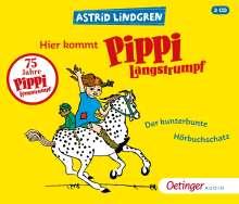Hier kommt Pippi Langstrumpf! Der kunterbunte Hörb, 3 CDs