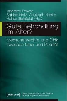 Gute Behandlung im Alter?, Buch