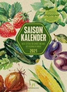 Saisonkalender Gemüse & Obst 2021, Kalender