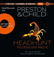 Douglas Preston: Headhunt - Feldzug der Rache, 2 CDs