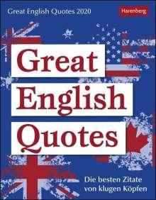 Jennifer Gallagher: Great English Quotes  - Kalender 2020, Diverse