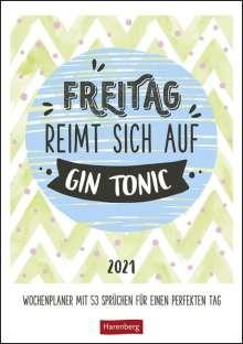 Freitag reimt sich auf Gin Tonic 2020 - Wochenplaner, Diverse