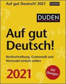 Ines Balcik: Duden Auf gut Deutsch! 2021, Kalender
