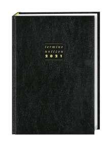 Terminer A5 2020. Leder schwarz, Buch