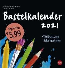 Bastelkalender 2021 mittel schwarz, Kalender