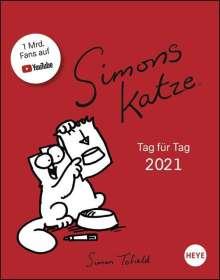 Simon Tofield: Simons Katze Tagesabreißkalender - Kalender 2021, Kalender