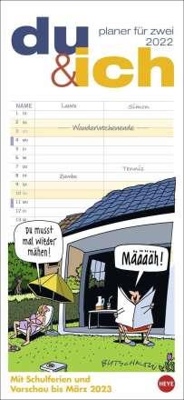 Butschkow Planer für zwei, du & ich - Kalender 2022, Kalender
