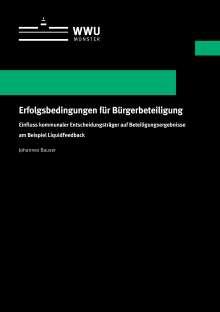 Johannes Bauser: Erfolgsbedingungen für Bürgerbeteiligung, Buch