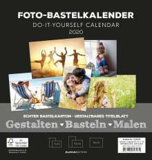 Foto-Bastelkalender schwarz FAMILY 2020, Diverse
