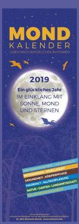 Michaela Mundt: Mondkalender 2019 - Streifenkalender, Diverse