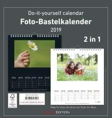 Foto-Bastelkalender 2019 s/w datiert, Diverse