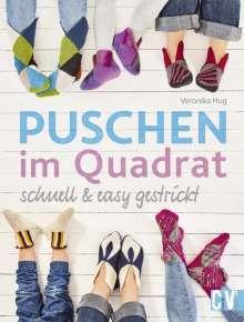 Veronika Hug: Puschen im Quadrat, schnell & easy gestrickt, Buch