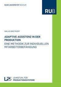 Niklas Breitkopf: Adaptive Assistenz in der Produktion, Buch