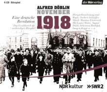 Alfred Döblin: November 1918. Eine deutsche Revolution, 4 CDs