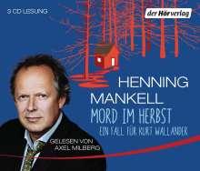 Henning Mankell (1948-2015): Mord im Herbst, 3 CDs