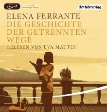 Elena Ferrante: Die Geschichte der getrennten Wege, 2 MP3-CDs